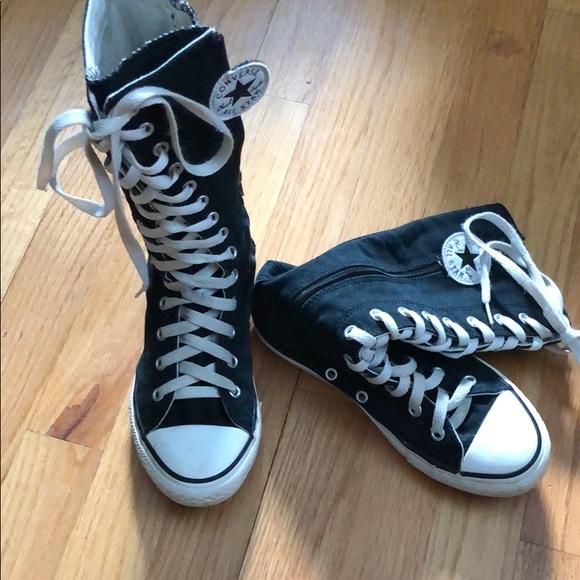 Girls knee high converse all star boots